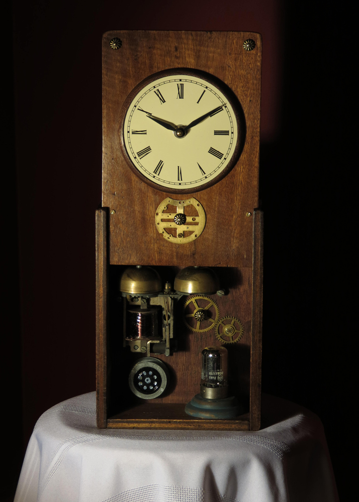Steampunk Antique Box Clock 1 Rekindled Lighting