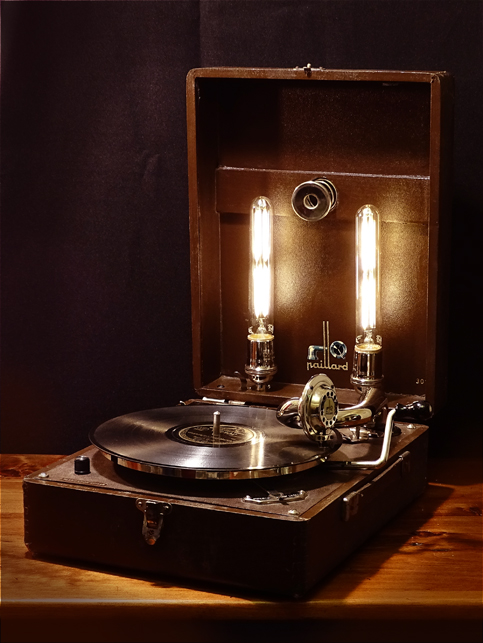 Vintage Record Player Lamp Rekindled Lighting