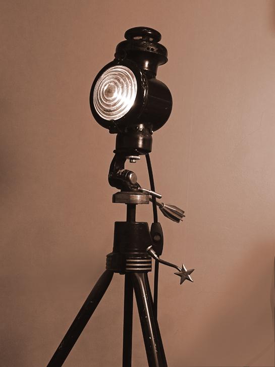 Antique Model T Headlight Floor Lamp Rekindled Lighting